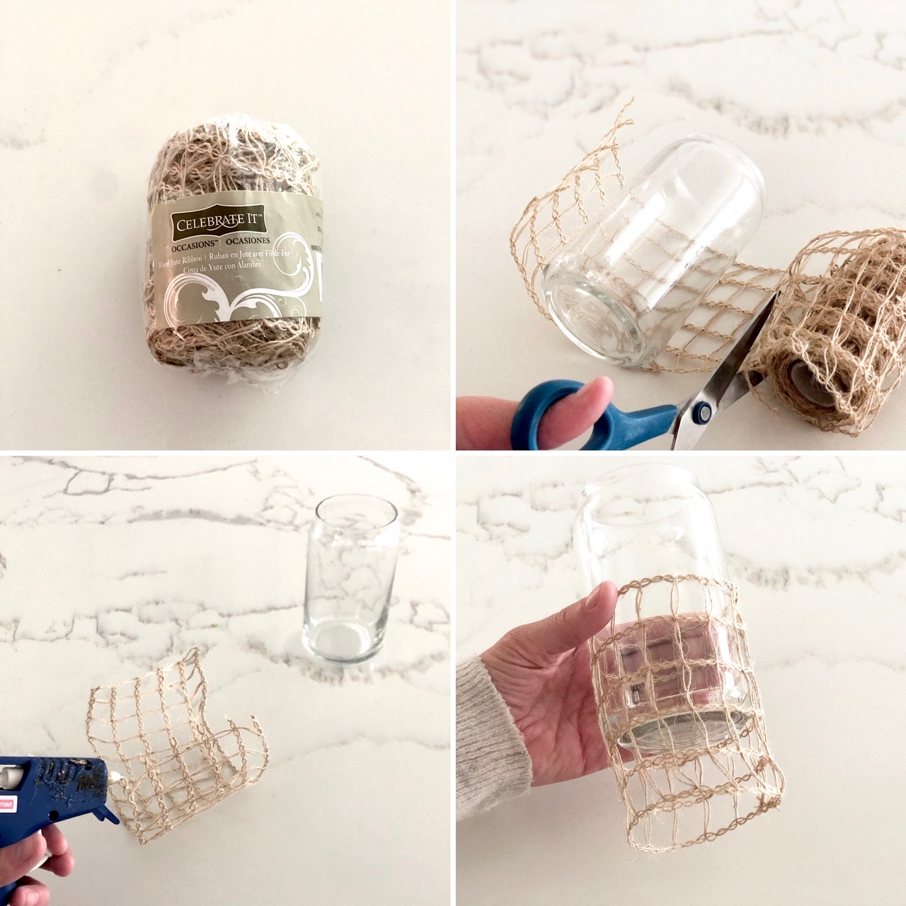 DIY-seasgrass-wrapped-glasses