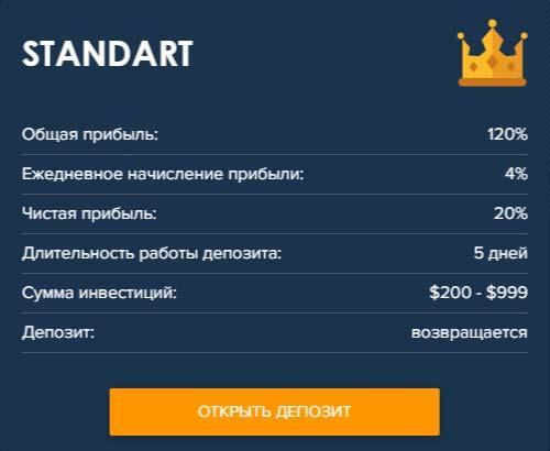 Инвестиционные планы Crypto-Club 2