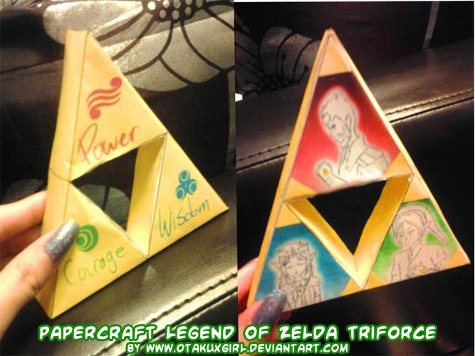 papercraft legend of zelda triforce