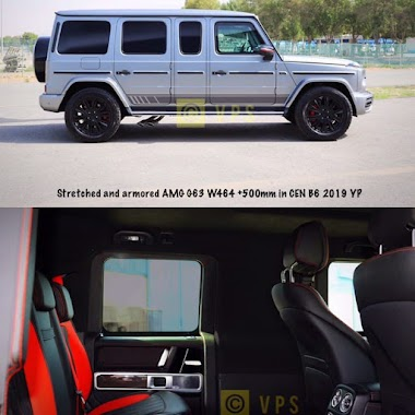 Stretched and Armored AMG G63 +500mm B6