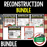 Reconstruction, Google Activities, American History Timelines, American History Word Walls, American History Test Prep, American History Outline Notes, American History by President Research, American History Mapping Activities, American History Biography Profiles, American History Interactive Notebooks