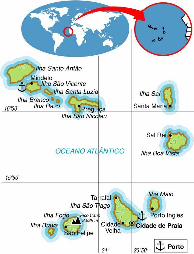 Cabo Verde, Aspectos Geográficos e Socioeconômicos de Cabo Verde