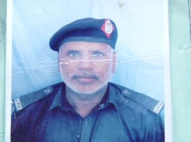 Image Attribute: Official photograph of Police Constable Bahar Khan released by the local authorities. He has been killed during the attack / Source: Geo News