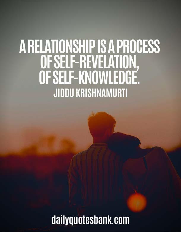Jiddu Krishnamurti Quotes On Relationship