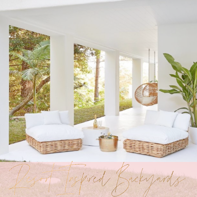 Creative ideas to transform your outdoor space into a beautiful resort inspired oasis.