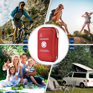 Waterproof Portable Essential Injuries & Red Cross Medical Emergency Equipment Kits