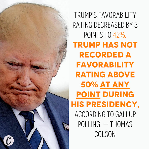 Trump's favorability rating decreased by 3 points to 42%. Trump has not recorded a favorability rating above 50% at any point during his presidency, according to Gallup polling. — Thomas Colson, Political Reporter, Business Insider