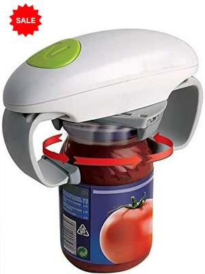 Automatic Jar Opener: Electric One Touch Bottle Opener