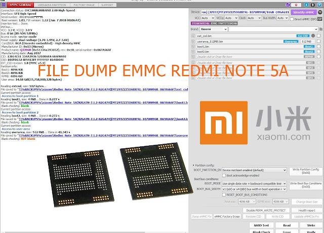 File Dump eMMC Xiaomi Redmi Note 5A