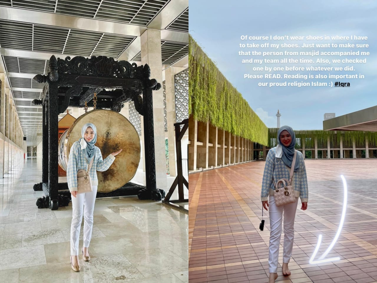 Jawaban Ayana Moon Soal Dirinya Pakai Sepatu Masuk Masjid Istiqal