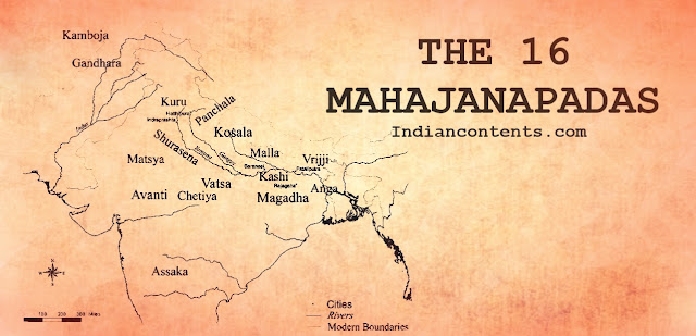 "Mahajanapadas is a Sanskrit word (महाजनपद, Mahājanapadas) which means ""Great Kingdoms"" (from Maha, ""great"", and Janapada ""foothold of a tribe"", ""country"")."