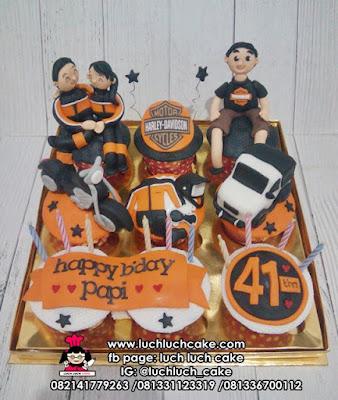 Cupcake Harley Davidson Sepeda Motor