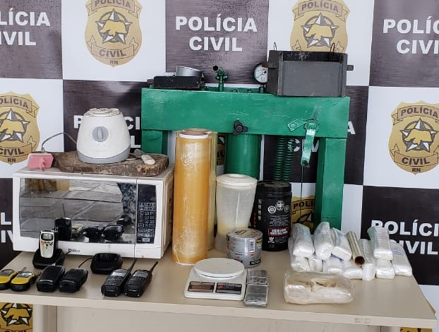 Polícia Civil desativa laboratório para o refino de crack e cocaína no RN