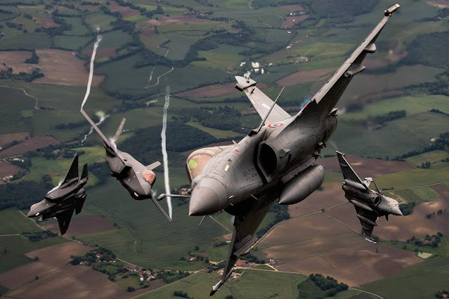 Atlantic Trident France Rafale F35