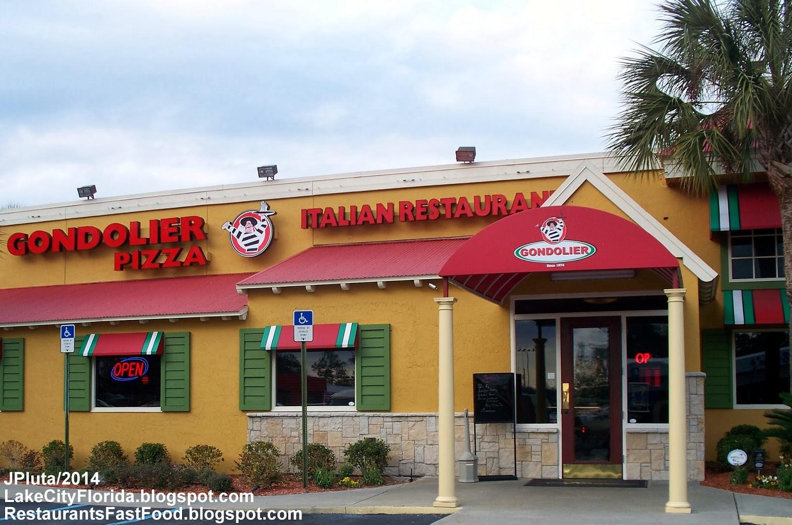 Gondolier Pizza Lake City Florida W Us Highway 90 Italian Restaurant Pasta Subs Gyro Fl