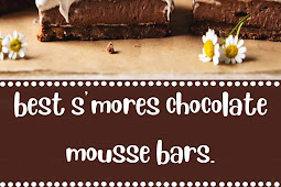 best s'mores chocolate mousse bars.
