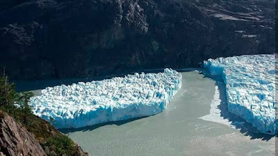 Retreat of glaciers in Patagonia, Chile.