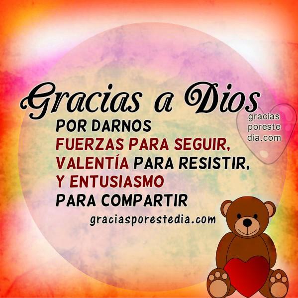 Imagenes con frases de acción de gracias por este día, mensajes cristianos cortos para facebook, buenos días, reflexión, pensamientos por Mery Bracho