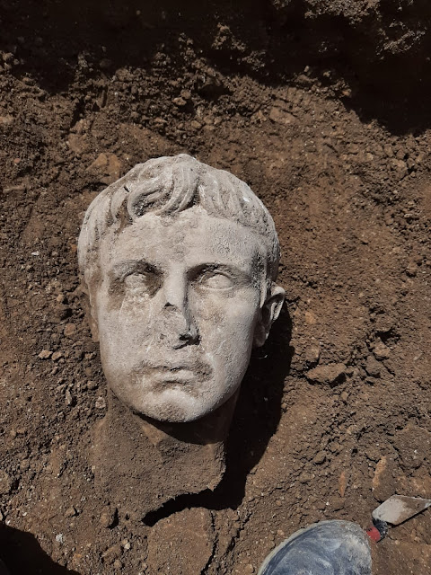Marble head of Emperor Augustus discovered in Italian town