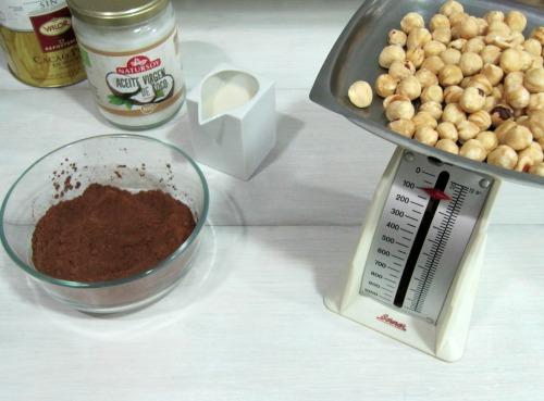 Ingredientes receta crema de cacao y avellanas