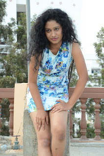Actress Priyankha Stills in Floral Short Dress at Golmal Gullu Movie Pressmeet 0241.JPG