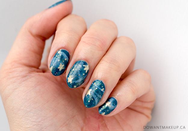 Galaxy stars nail art