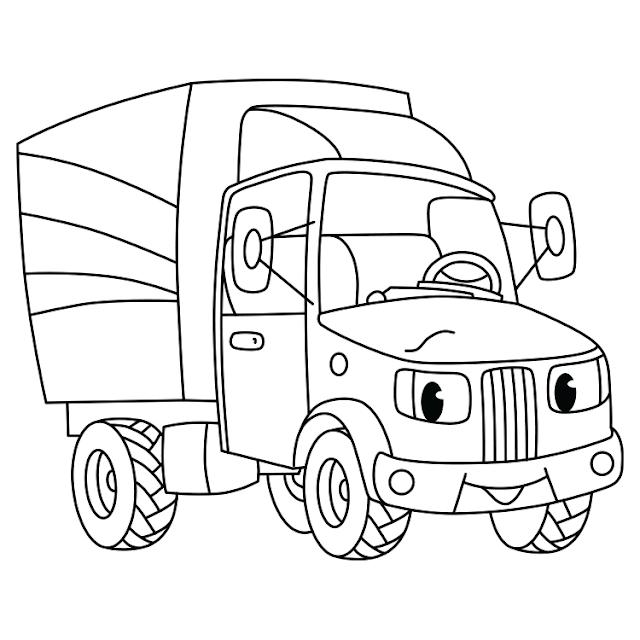 شاحنة للتلوين