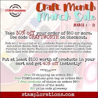 MARCH CRAFT MONTH SALE!