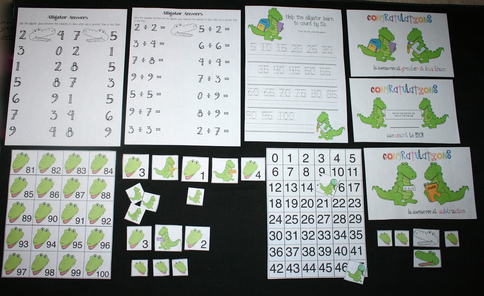 Classroom Freebies Alligator Answers Math Packet