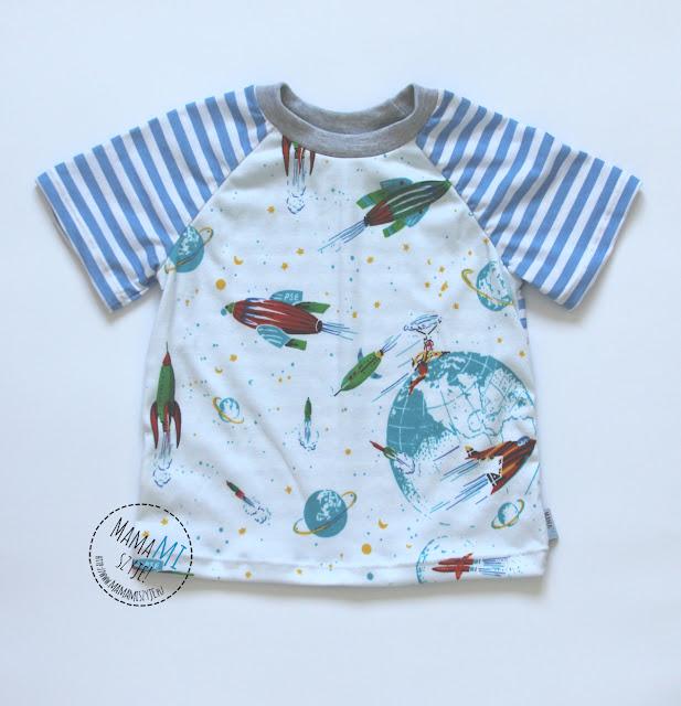 piżama czy jednak nie, dzianina w paski, łączenie materiałów