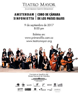 Desde Amsterdam Sinfonietta y el Coro de Cámara de los Países Bajos en Bogotá