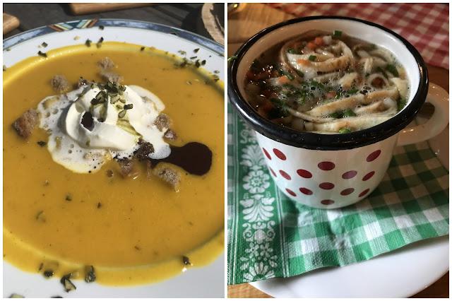 Suppen Staerkung Mittagessen unterwegs Wandern Einkehr auf der Alm Jules kleines Freudenhaus