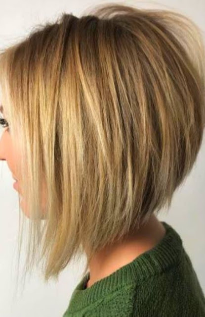 Stacked Medium Length Hairstyle - Medium Length Hairstyle and Haircuts For Women