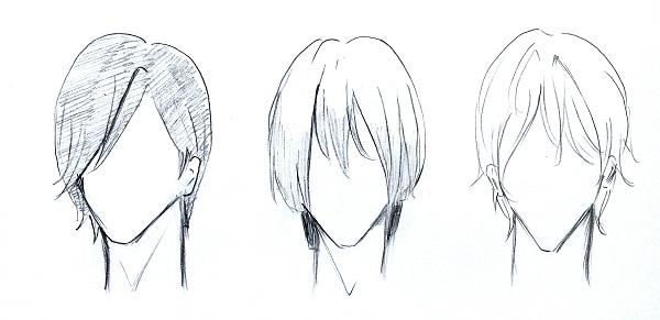 Cara menggambar rambut manga cowok - MAYAGAMI