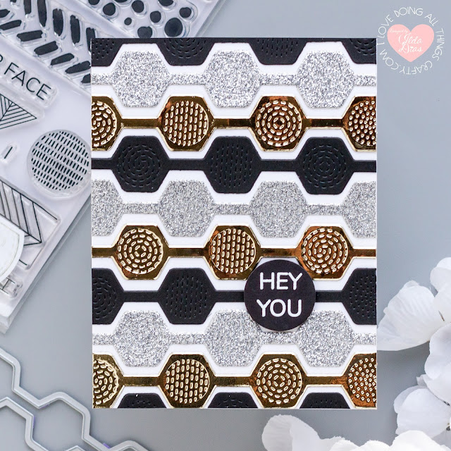 January 2021, Backgrounds & Borders, Stamp Club, Blog Hop, Tonic Studios, Metallic Papers, Card Making, Stamping, Die Cutting, handmade card, ilovedoingallthingscrafty, Stamps, how to,