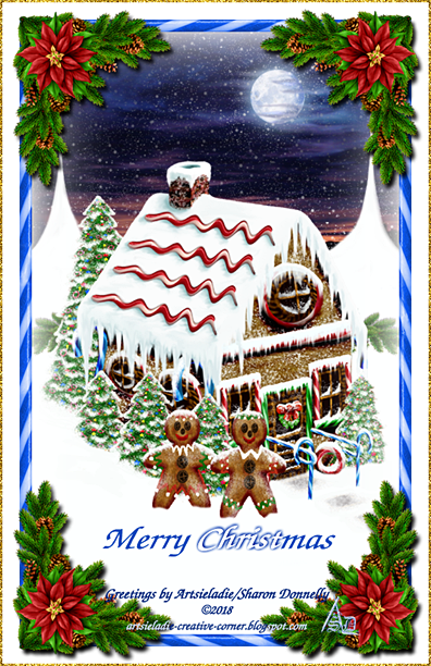 Gingerbread House art by/copyrighted to Artsieladie