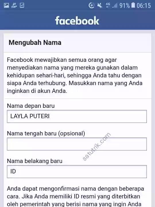 Cara Membuat Akun Facebook Tanpa Nama (Kosong) Lewat HP