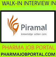 Piramal Enterprises Limited  Walk In Interview For Freshers & Experienced at 8 August