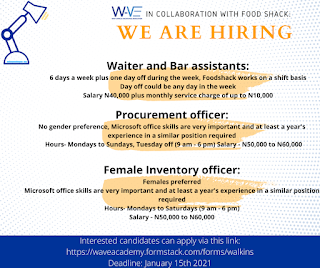 VACANCIES FOR BAR ASSISTANTS, PROCUREMENT AND INVENTORY OFFICERS