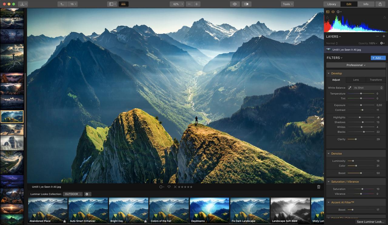 Skylum Luminar AI 1.0.0.7189 Repack - Phần mềm chỉnh sửa ảnh cho máy tính