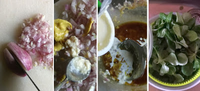 Zubereitung Feldsalat mit Sahne-Dressing