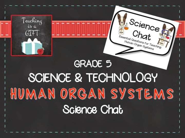 Teachingisagift Human Organ Systems Science Chat for Grade 5 Science