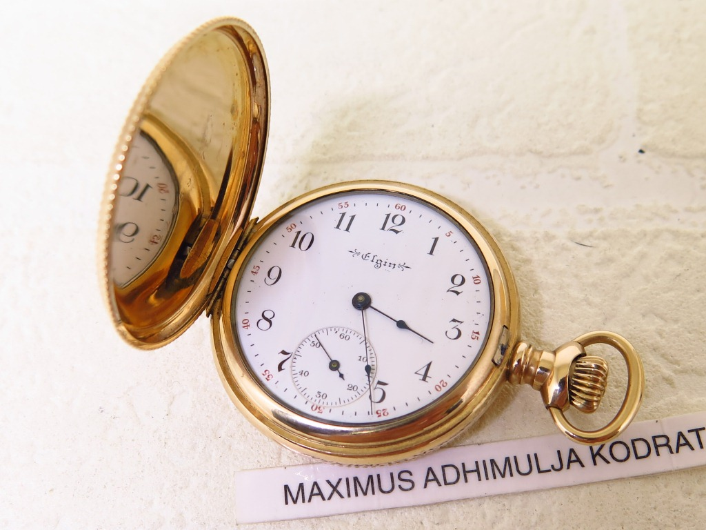 ELGIN WATCH CO. POCKET WATCH 40mm GOLD 14k CIRCA 1913