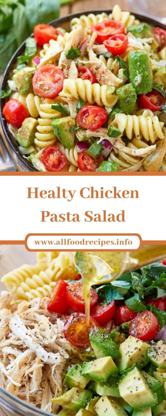 Healty Chicken Pasta Salad