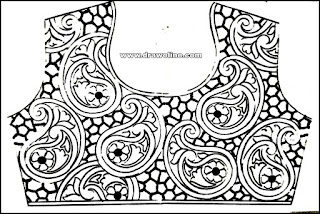 New maggam work designs papers, maggam work design trace papers, maggam work blouse design paper online.