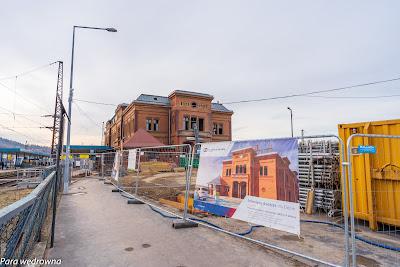 Budynek dworca Wałbrzych Główny - obecnie i w przyszłości
