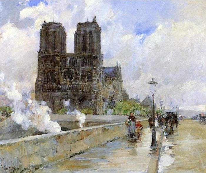 Childe Hassam 1859-1935 | American Impressionist painter | Paris Street Scenes