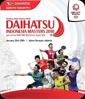 Hasil Lengkap Live Skor Indonesia Masters 2018