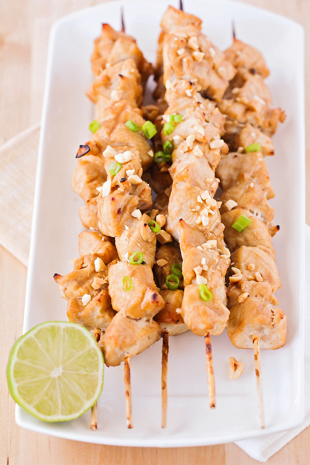 These thai peanut chicken skewers are so delicious and flavorful! They are a quick and easy weeknight dinner that everyone will love!