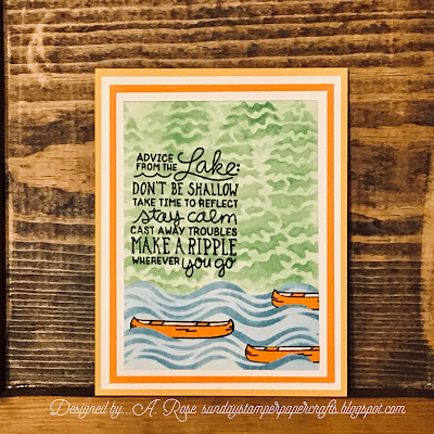 Advice from the Lake by A. Rose features Lake Advice, Waves, and Evergreens by Newton's Nook Designs; #newtonsnook